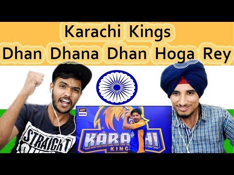 Indian reaction on Karachi Kings Official Anthem 2018| De Dhana Dhan | PSL | Swaggy d thumbnail