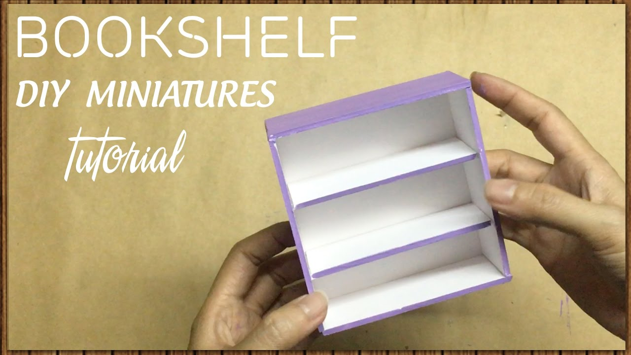 DIY Miniature Bookshelf Tutorial