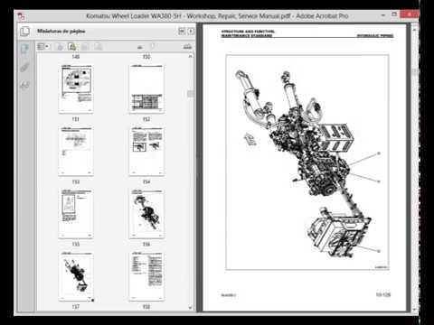 Komatsu Wheel Loader WA380-5H - Service Manual - Wiring Diagram