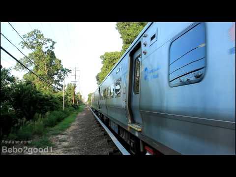 Long Island Railroad: Single W. Hempstead Train At Westwood, NY RR