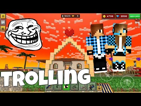 Pixel Gun 3D - Trolling A Boy In Sandbox! With Dating And S*x