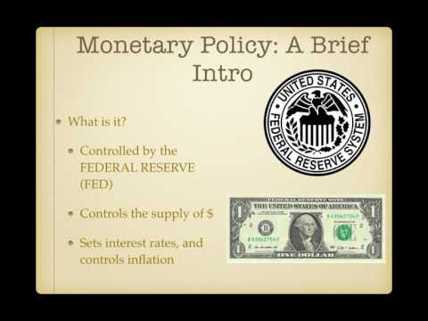 AP Gov Review Video #40:  Monetary and Fiscal Policy