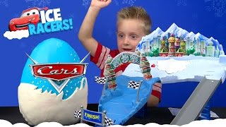Disney Cars KINDER Play-Doh Surprise Egg with ICE RACERS Lightning McQueen Cars | KID CITY