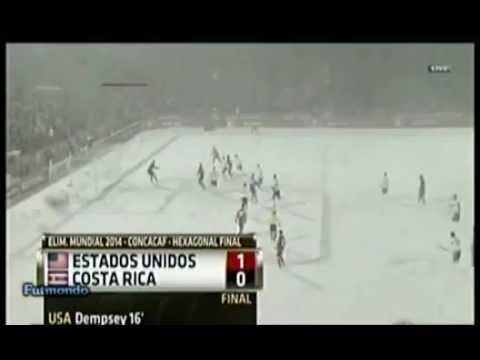 USA vs Costa Rica 1-0 snow match