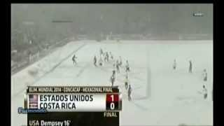 USA vs Costa Rica 1-0 snow match