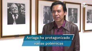 El discurso lo dio Arriaga aún siendo director general de Bibliotecas; ahora como funcionario en la SEP está en medio de la polémica por pedir a ilustradores colaborar gratis