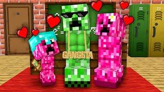 Monster School : Happy Creeper Family Life - Minecraft Animation