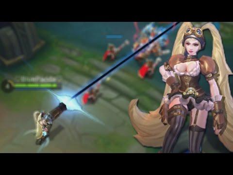 Mobile Legends New Layla Skin Gameplay + Free Skin! (Rework Maleifc Gunner)