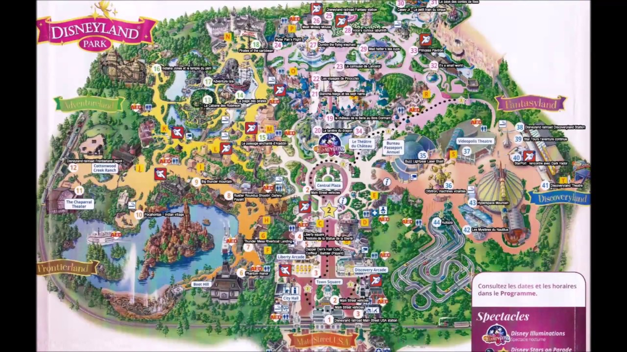 Disneyland Paris Maps Over the Years - YouTube on