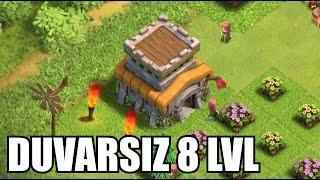 DUVARSIZ 8 LVL KÖY BİNASI - Clash of Clans