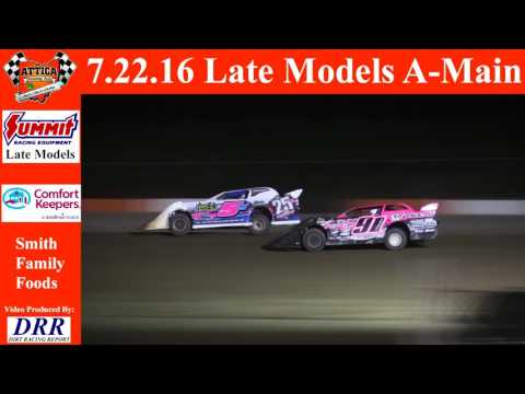 7.22.16 Attica Raceway Park Late Models A-Main