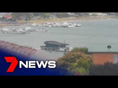 Floating Tasmanian Fish And Chip Shop Breaks Moor And Drifts Away   7NEWS