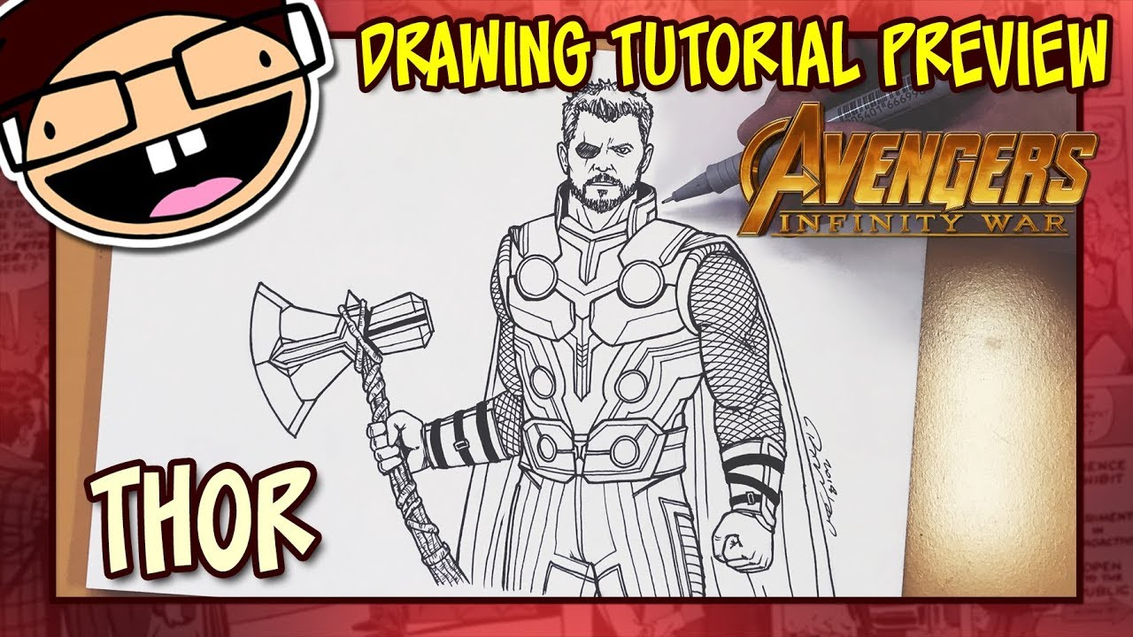 Preview how to draw thor avengers infinity war drawing tutorial time lapse