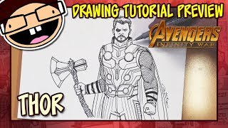 [PREVIEW] How to Draw THOR (Avengers: Infinity War) | Drawing Tutorial Time Lapse