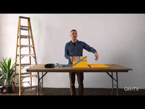 Modern Art Class, Beginner's Tape Stencil Paintings