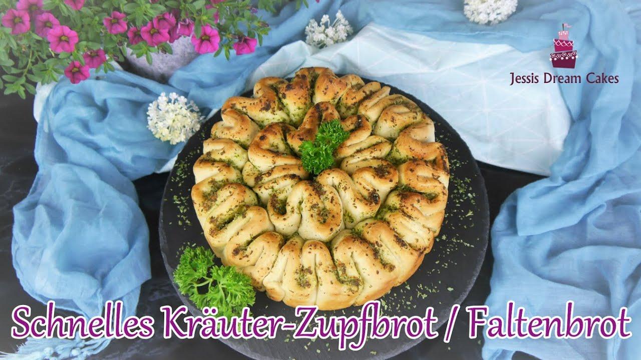Schnelles Zupfbrot mit Knoblauch-Kräuterbutter / Faltenbrot / - perfekte Grillbeilage!👌