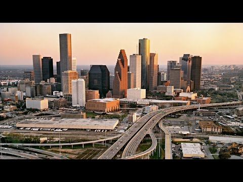 DJI Phantom 4K Downtown Houston [ 4K ]  UHD