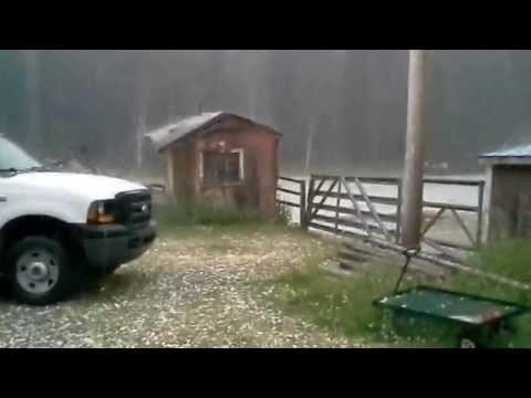 Massive Hail Storm Bragg Creek Alberta