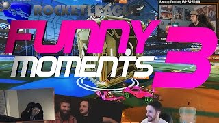 ROCKET LEAGUE FUNNY MOMENTS 3 😆 (FUNNY REACTIONS, FAILS & WINS BY COMMUNITY & PROS!)