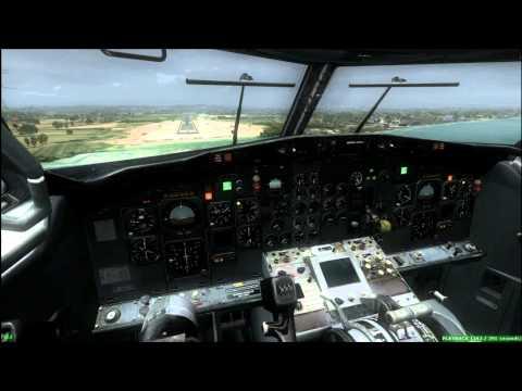 Boeing 737 - 200 landing WALR [FSX]