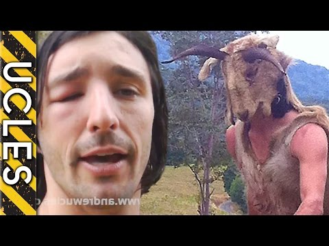 BEE ATTACK - (Caveman vs Wild BEE Hive) - with Andrew Ucles