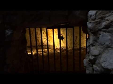 Descending to Grimes Graves Prehistoric Flint Mine Thetford Norfolk England UK