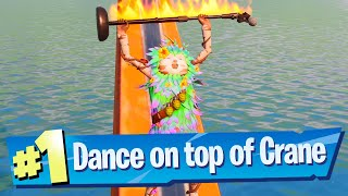 Dance on top of the Crane at Rickety Rig Location - Fortnite Battle Royale