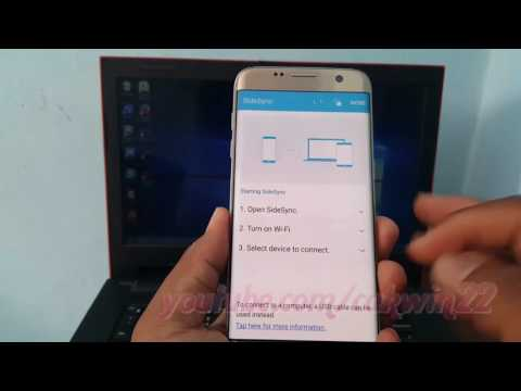 Samsung Galaxy S7 Edge : How To Connect To Pc Via Wifi Using Sidesync (Android Marshmallow)