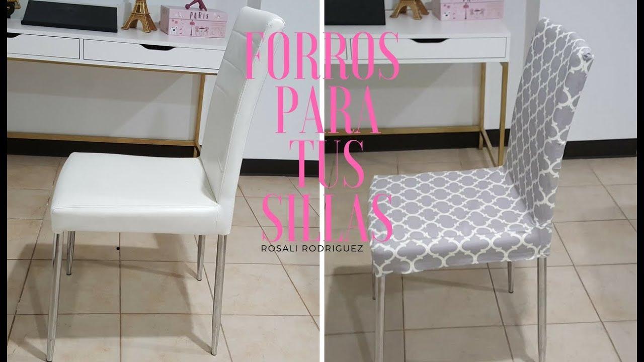 FORROS PARA SILLAS / CHAIR COVER - YouTube