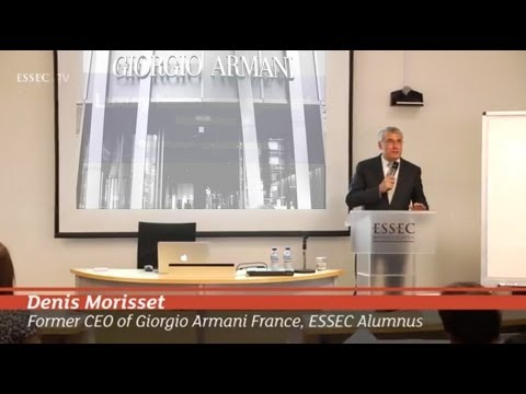 Master Class by former CEO of ARMANI Denis Morisset, ESSEC Alumnus