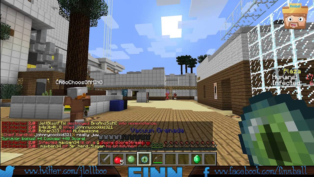 Minecraft servers using Infected plugin