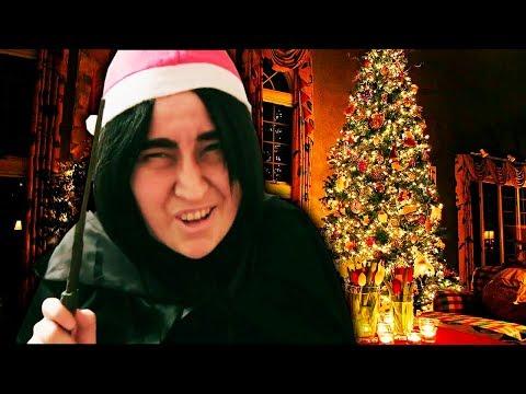 Поздравление с Рождеством и Новым годом от Северуса Снейпа с Гарри Поттера || Снарри фики косплей