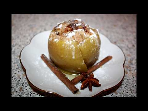 100500 рецептов - запеченные яблоки с творожной начинкой в мультиварке