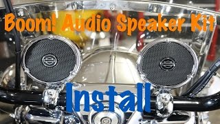 how to install harley davidson boom audio cruiser amp speaker kit complete tutorial