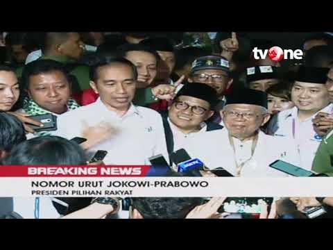 Statement Presiden Jokowi Usai Pengundian Nomor Urut Paslon