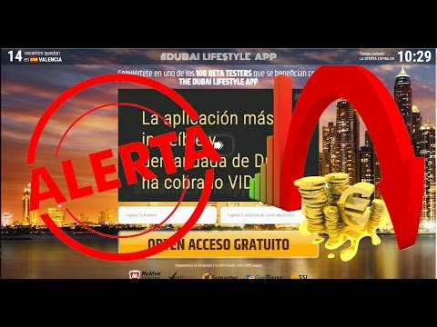 Dubai Lifestyle App es ESTAFA!! - ALERTA 100% FALSO - ¡NO IN