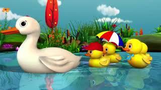 五只小鸭子 | 儿歌 | 童谣 | Little Baby Bum