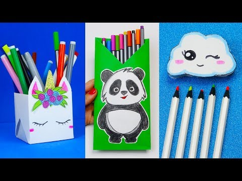 6 DIY School Supplies  Easy DIY Paper crafts ideas
