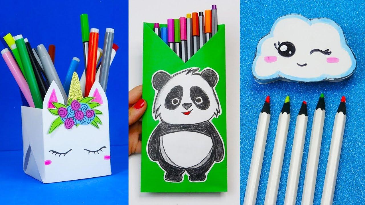 6 Diy School Supplies Easy Diy Paper Crafts Ideas