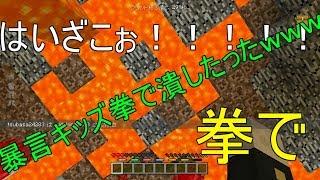 クソガキを拳でつぶしたったww【ミニゲーム】WiiUマイクラ