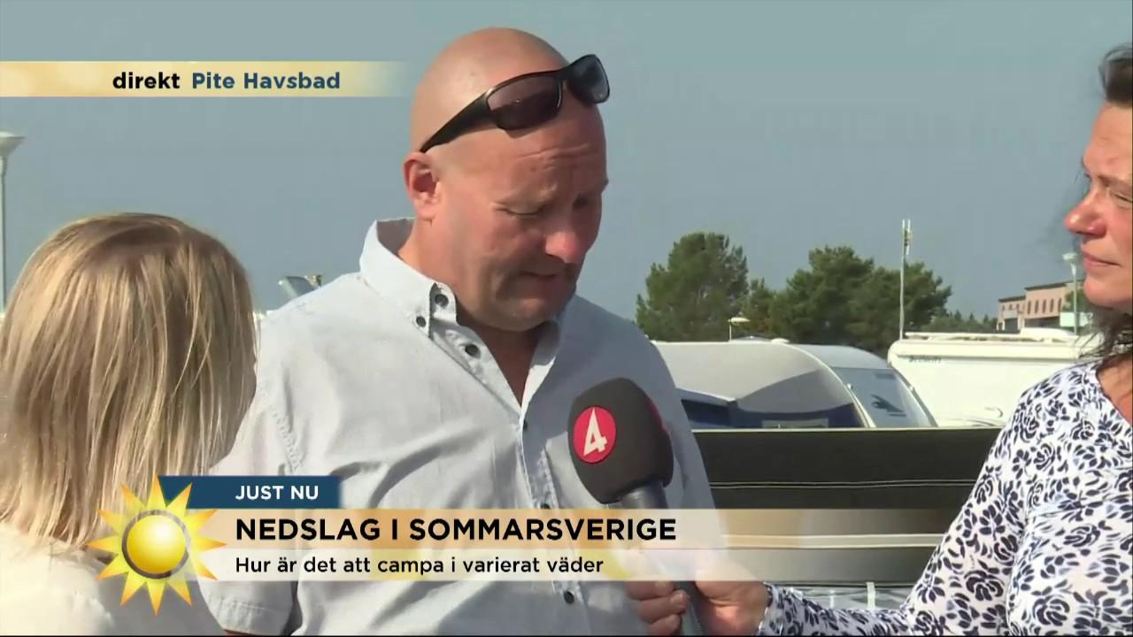 Camparna I Pitea Det Finns Inga Daliga Vader Nyhetsmorgon Tv