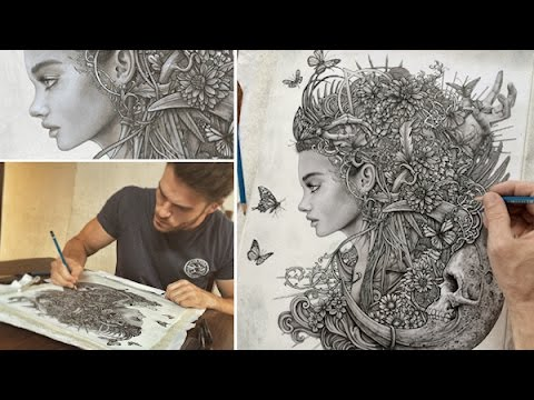 Drawing ornate fantasy art