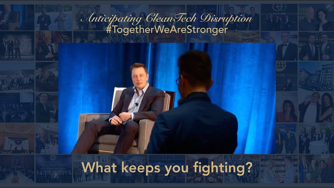 What keeps Elon Musk fighting for his vision? #TogetherWeAreStronger