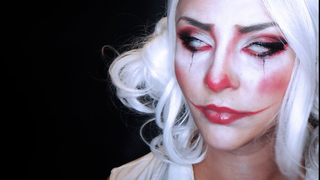 scary circus mime makeup doll pretty | www.picturesboss