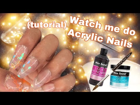 Acrylic Nails Tutorial 🧡💛 Mia Secret Acrylic💜 thumbnail