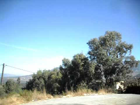 Driving through the Morccan Rif Mountains