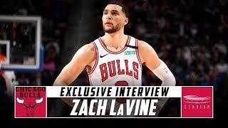 Shams Charania Interviews Bulls Sg Zach Lavine Stadium Youtube