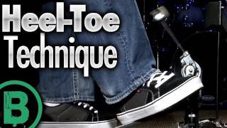 Heel-Toe Technique - Beginner Drum Lessons(FREE Series: The Top 3 Bass Drum Techniques - http://bit.ly/bassdrum . In this video drum lesson, Jared Falk takes you through the basics of the heel-toe ..., 2011-06-02T07:32:03.000Z)