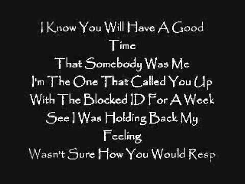 Chris Brown- That Somebody Was Me Lyrics HD !!