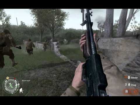 Call of Duty 2, walkthrough on Veteran, Chapter 8 - D-Day, part 1 - The Battle of Pointe du Hoc